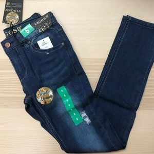 VIGOSS Girls' Stretch Distressed Fade Skinny Jean